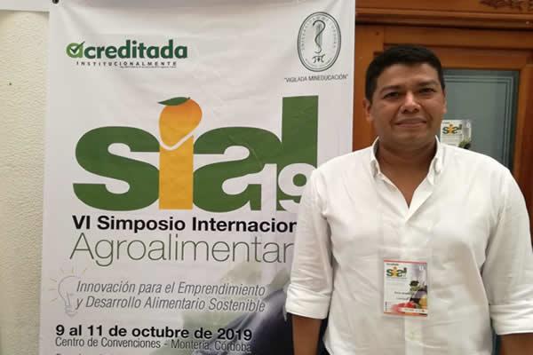 Paul Andrés Rodríguez Sánchez, uno de los ponentes invitados por la Unicórdoba al VI Simposio Internacional Agroalimentario.
