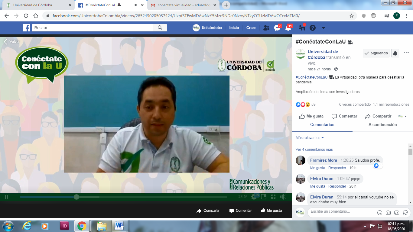 Profesor Juan Carlos Giraldo, invitado a Conéctate con la U.