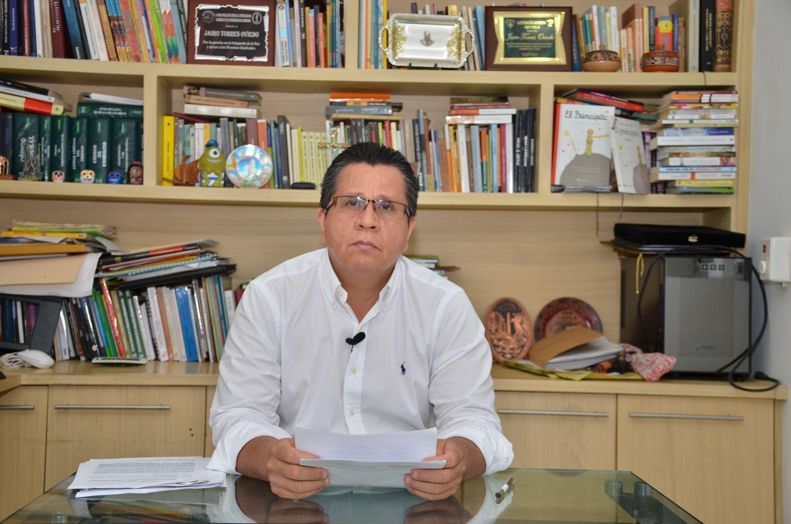 Jairo Torres Oviedo, presidente SUE Caribe y rector de la Universidad de Córdoba.