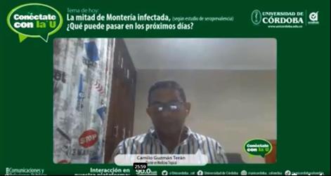 Doctor, Camilo Guzmán Terán, investigador científico de la Unicórdoba, quien estuvo acompañado del doctor, Álvaro Faccini Martínez