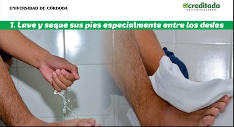 La campaña del programa de Enfermería estuvo acompañada de un portafolio diseñado por Unicórdoba, para la prevención del píe diabético.