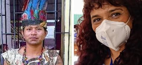 Iván Domicó, estudiante de Lic. en Ciencias Sociales y la docente María Alejandra Taborda, protagonistas de la investigación en territorio.