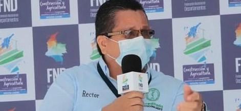 El rector de Unicórdoba y presidente del SUE, Jairo Torres Oviedo, durante su intervención en el foro intersectorial de la Federación Nacional de Departamentos.