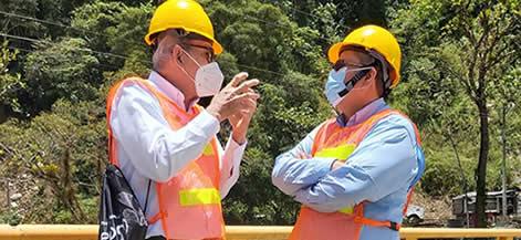 Representantes de las entidades comprometidas en el tema, durante la visita a Hidroituango.