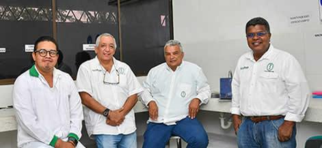 Los docentes e investigadores Luis Alfonso Rodríguez, Alfredo Jarma Orozco, Enrique Combatt y Juan De Dios Jaraba.